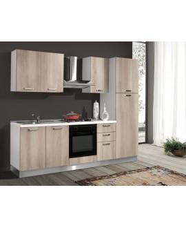 Cucina 255 cm con frigo